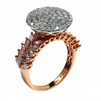 ROSE GOLD DIAMOND FEMALE RING
