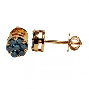 Blue Diamond Earring